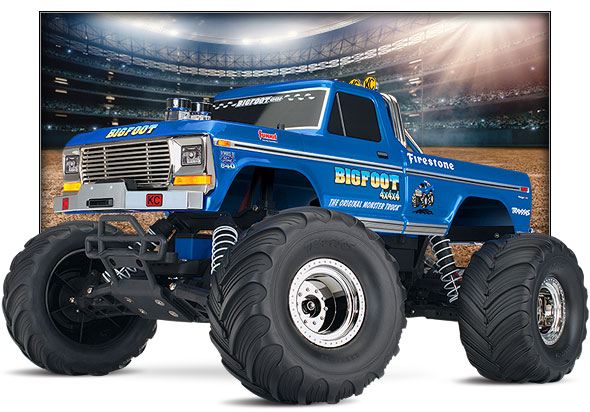 Traxxas Bigfoot No. 1 The Original Monster Truck, 1/10 Scale 2WD Monster Truck, XL-5 brushed ESC, Titan 12t Motor, 7 Cell NiHM battery and 4A DC Charger
