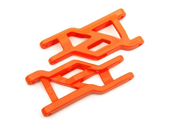 Traxxas Suspension arms, front (orange) (2) (heavy duty, cold weather material)
