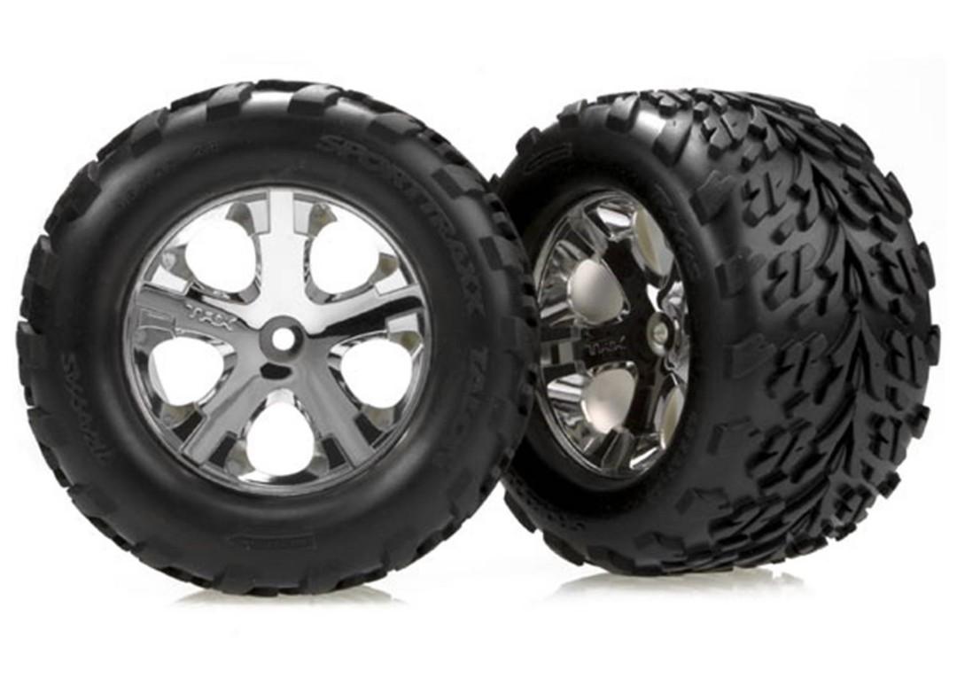 Traxxas Tires & wheels, assembled, glued (2.8