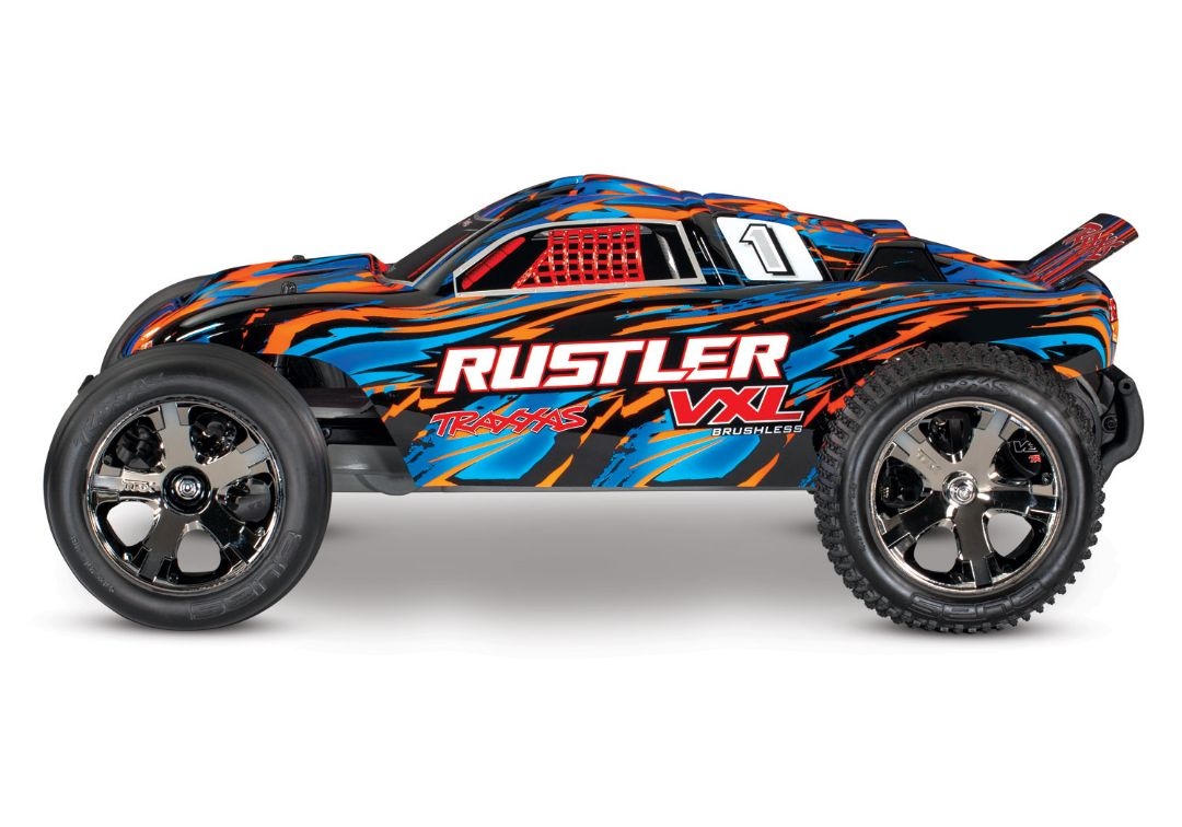 Traxxas Rustler VXL Brushless 1/10 RTR Stadium Truck OrangeX - Click Image to Close