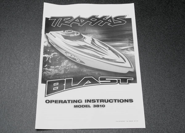 Traxxas Owner's Manual, Blast