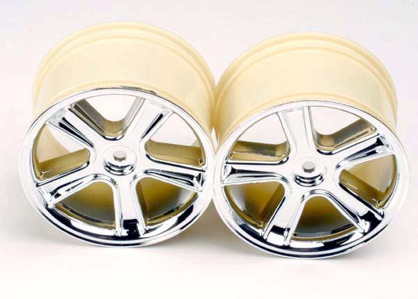 Traxxas Sport Wheels, Maxx (Mirror Chrome Finish) (2)