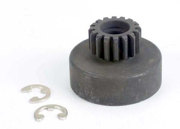 Traxxas Clutch Bell, (16-Tooth)/5x8x0.5mm Fiber Washer (2)/ 5mm E-Clip (Requires #2728 - Ball Bearings, 5x8x2.5mm (2)