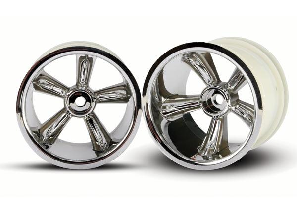 Traxxas 12mm Hex Pro-Star Rear Wheels (2) (Chrome)