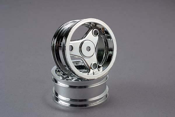Traxxas Wheels, Chrome, Three-Spoke (2)