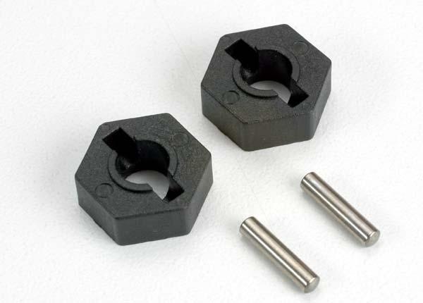 Traxxas 14mm Hex Wheel Hubs (2) w/ Axle Pins (2.5x12mm) (2)