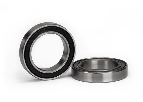 Traxxas Ball bearing, Black rubber sealed (15x24x5mm) (2)