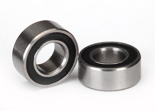 Traxxas Ball Bearing, Black Rubber Sealed (5x10x4mm) (2)