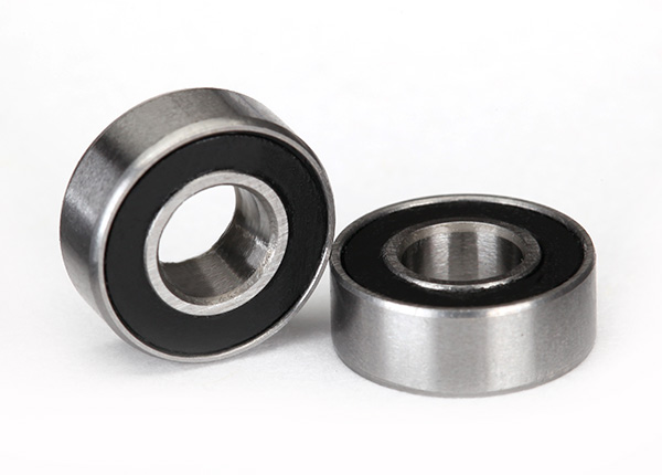 Traxxas Ball Bearing, Black Rubber Sealed (5x11x4mm) (2)