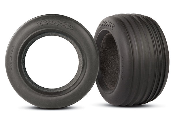 Traxxas Tires, Ribbed 2.8' (2)/ Foam Inserts (2)