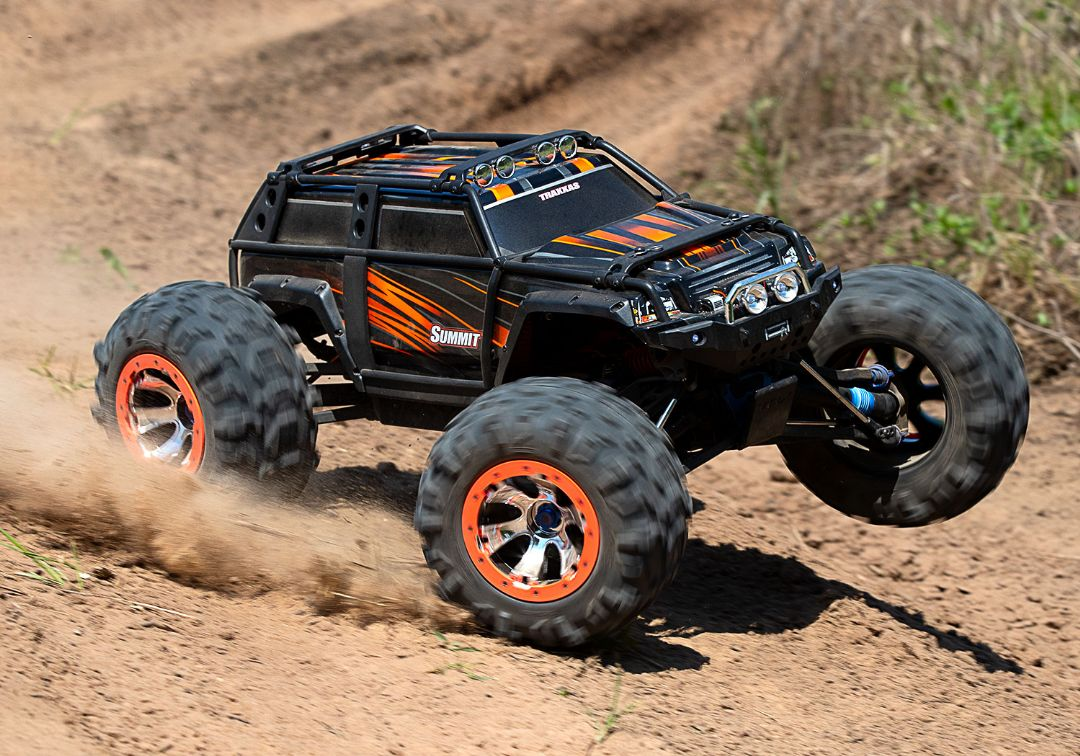 Traxxas Summit RTR 4WD Monster Truck OrangeX with TQi - Click Image to Close