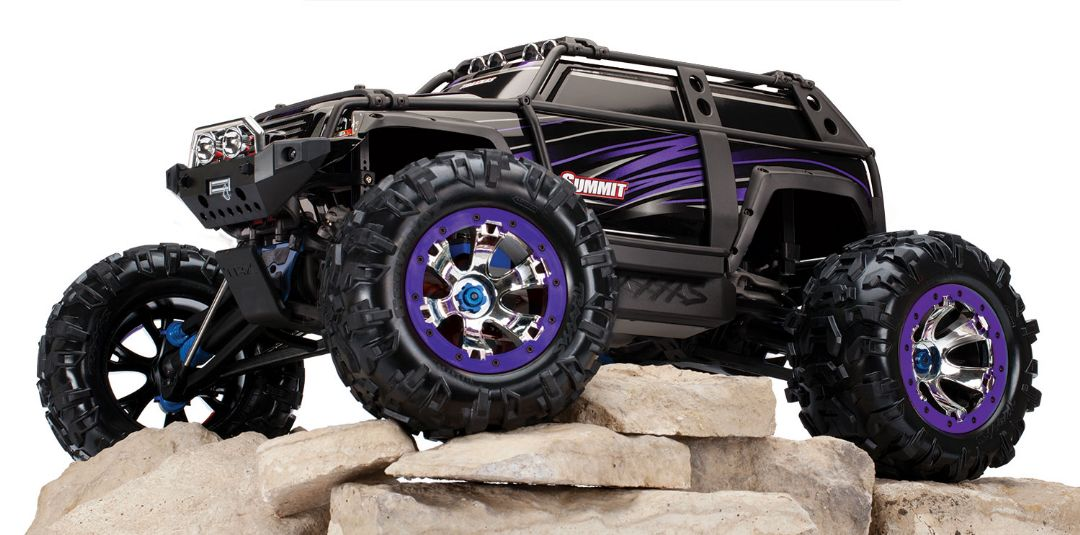Traxxas Summit RTR 4WD Monster Truck Purple with TQi - Click Image to Close
