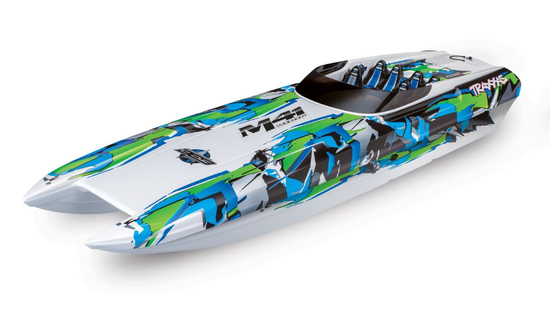 "Traxxas DCB M41 Widebody 40"" Catamaran Race Boat Green - Click Image to Close"