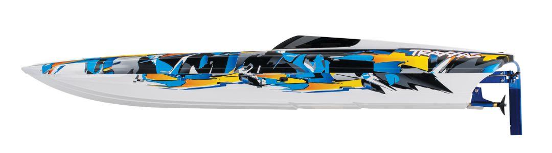 "Traxxas DCB M41 Widebody 40"" Catamaran Race Boat Orange - Click Image to Close"