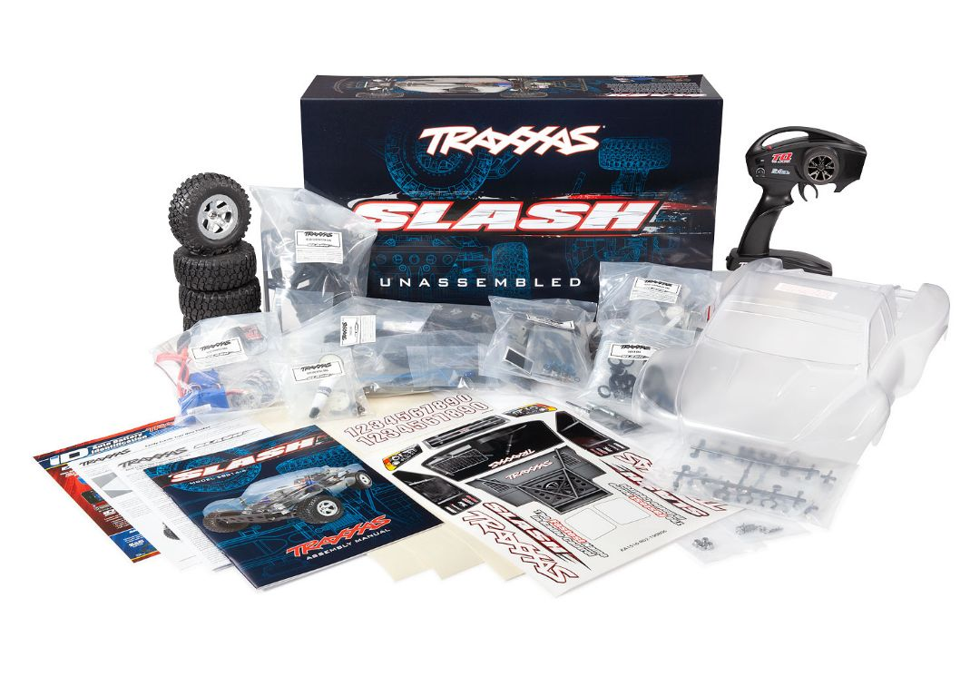 Traxxas Slash Assembly Kit: 1/10 Scale 2wd Short Course Racing Truck. Ready-To-Race With TQ 2.4GHZ Radio System XL-5 ESC (FWD/REV),and Clear Body. Requires: Battery And Charger