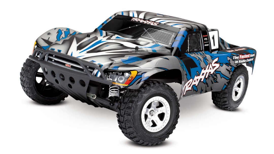 Traxxas Slash 2WD 1/10 RTR Electric Short Course Truck Blue, No Battery/Charger, Brushed ESC XL-5 with Titan 12t