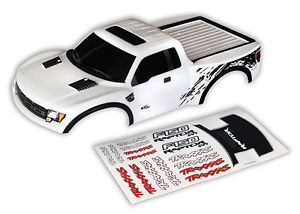 Traxxas Body, Ford Raptor, white (painted, decals applied)