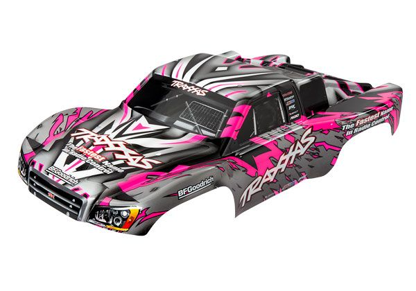 Traxxas Body, Slash 4X4/Slash, pink (painted, decals applied)