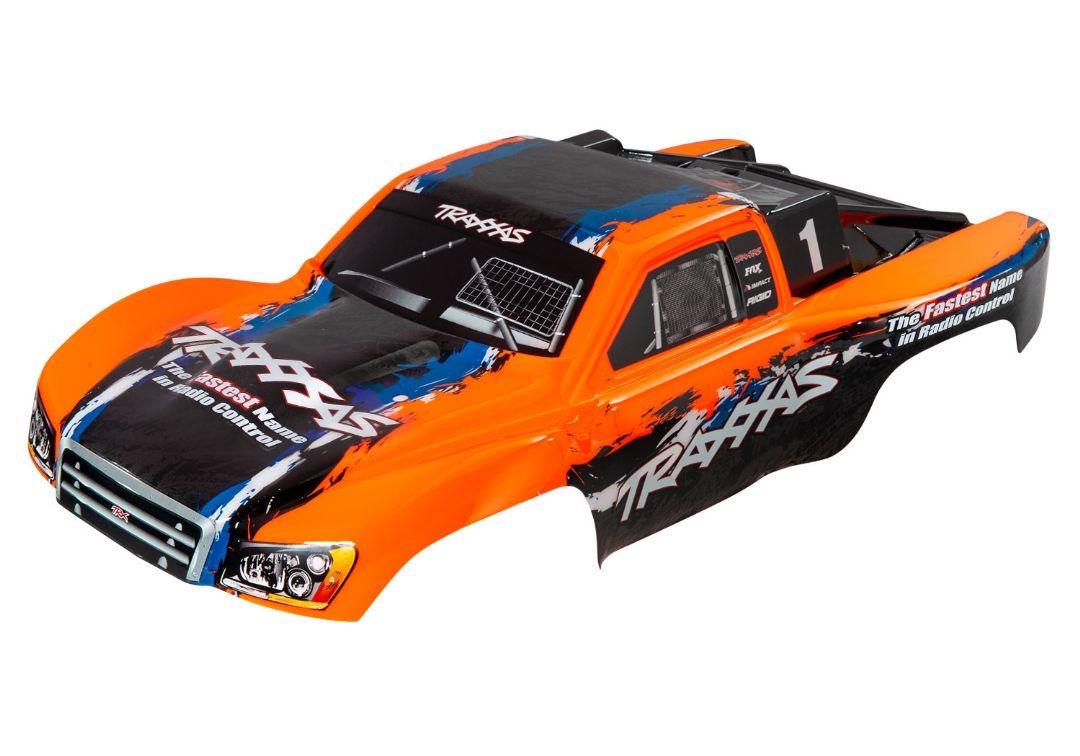 Traxxas Body, Slash 4X4, orange (painted, decals applied)