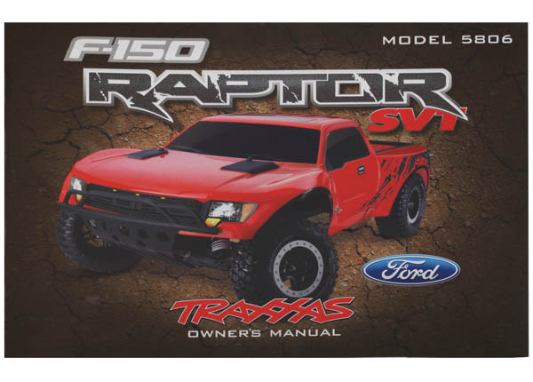 Traxxas Owner's Manual, Ford Raptor