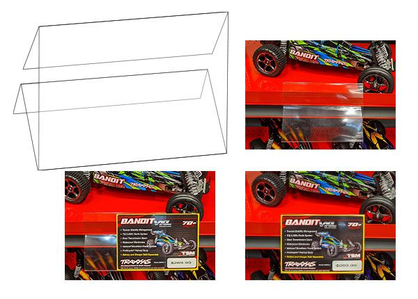 Traxxas 3 Fold Sign Cover - Use with 6175A Shelftalker (10)