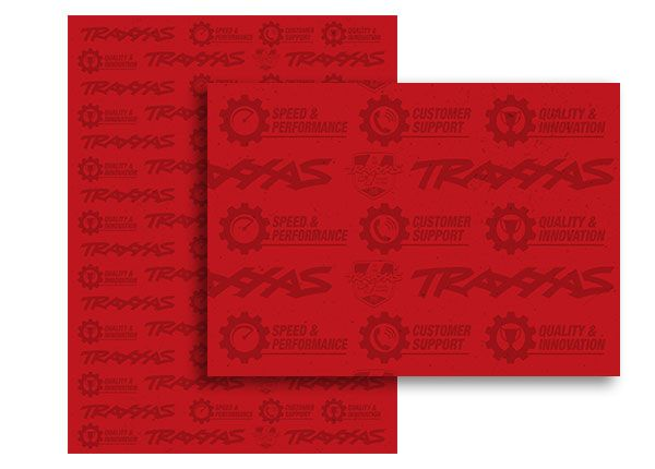 Traxxas 18x24 Red Adhesive Wallpaper
