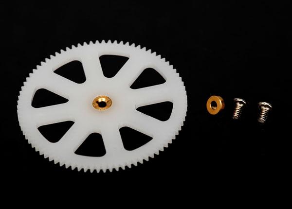 Traxxas Main Gear, Lower (1) (For Inner Main Shaft)/ Bushing (1)/ Screws (2)