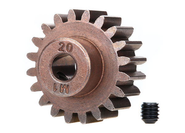 Traxxas Mod 1 Steel Pinion Gear 5mm Shaft (20) (compatible with steel spur gears)