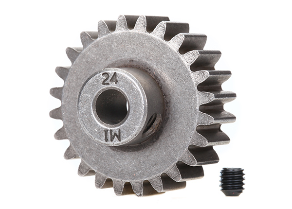 Traxxas Mod 1 Steel Pinion Gear 5mm Shaft (24) (compatible with steel spur gears)