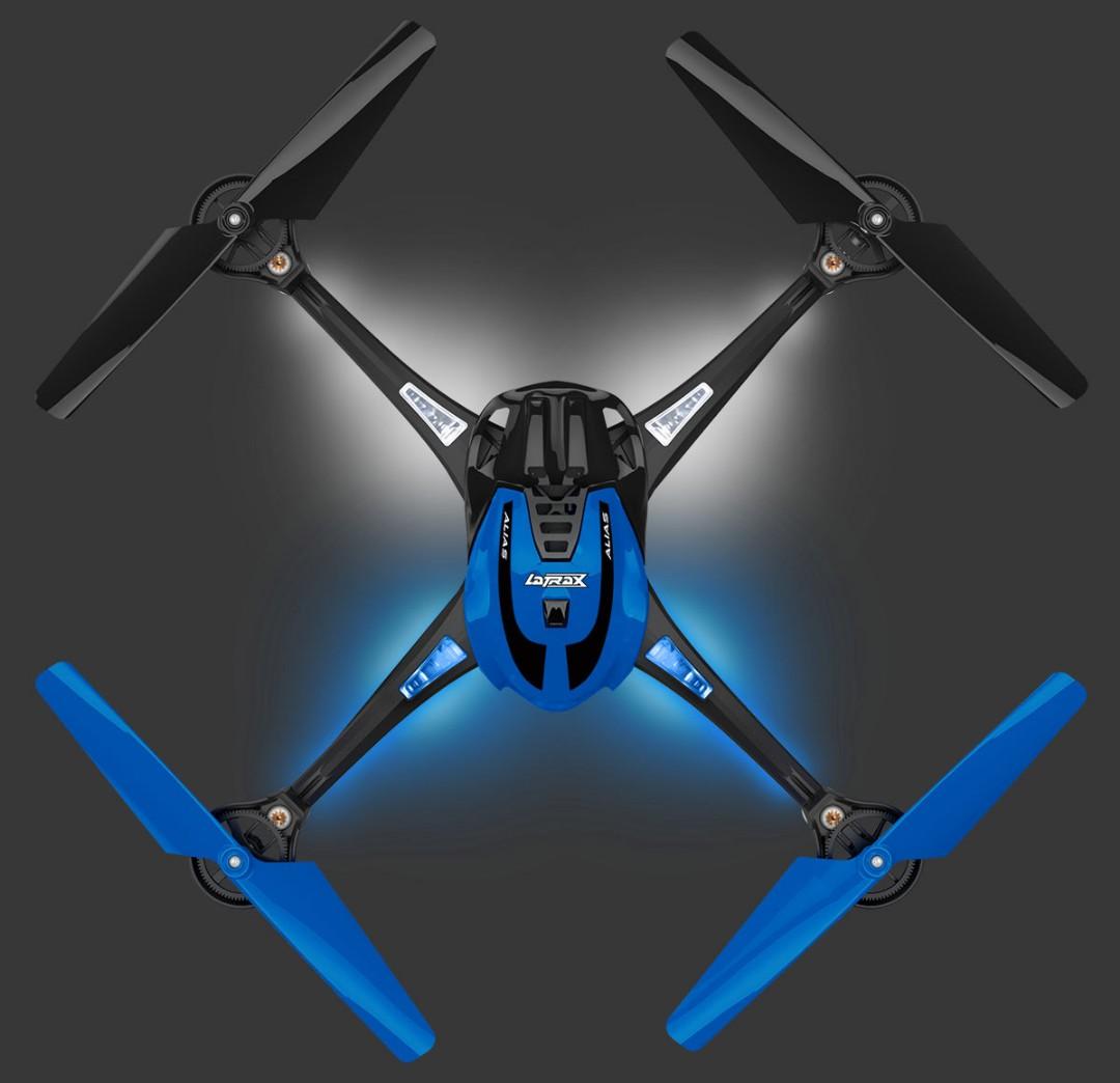 Traxxas LaTrax Alias Ready-To-Fly Micro Electric Quadcopter Drone Blue