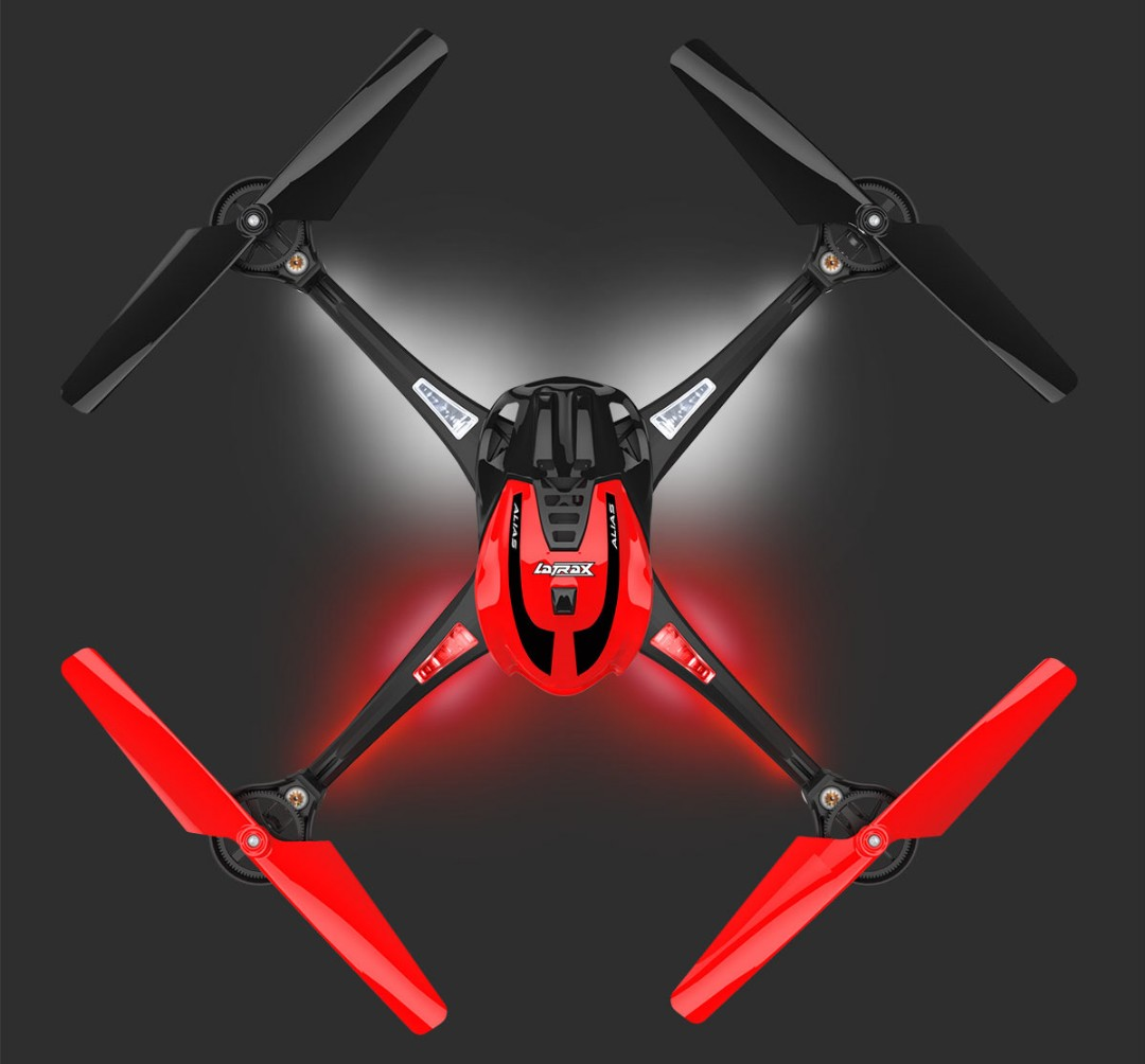 Traxxas LaTrax Alias Ready-To-Fly Micro Electric Quadcopter Drone Red
