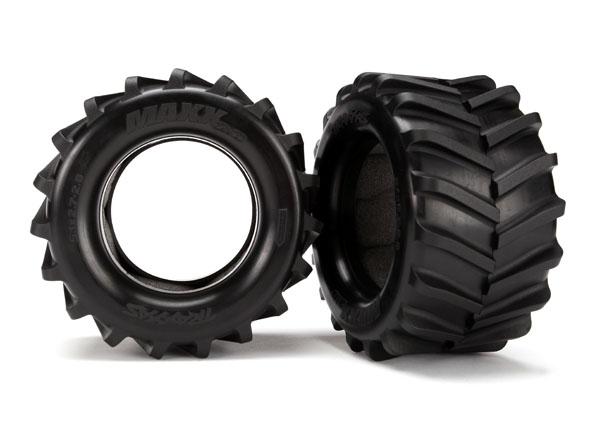 Traxxas Tires, Maxx 2.8' (2)/ Foam Inserts (2)