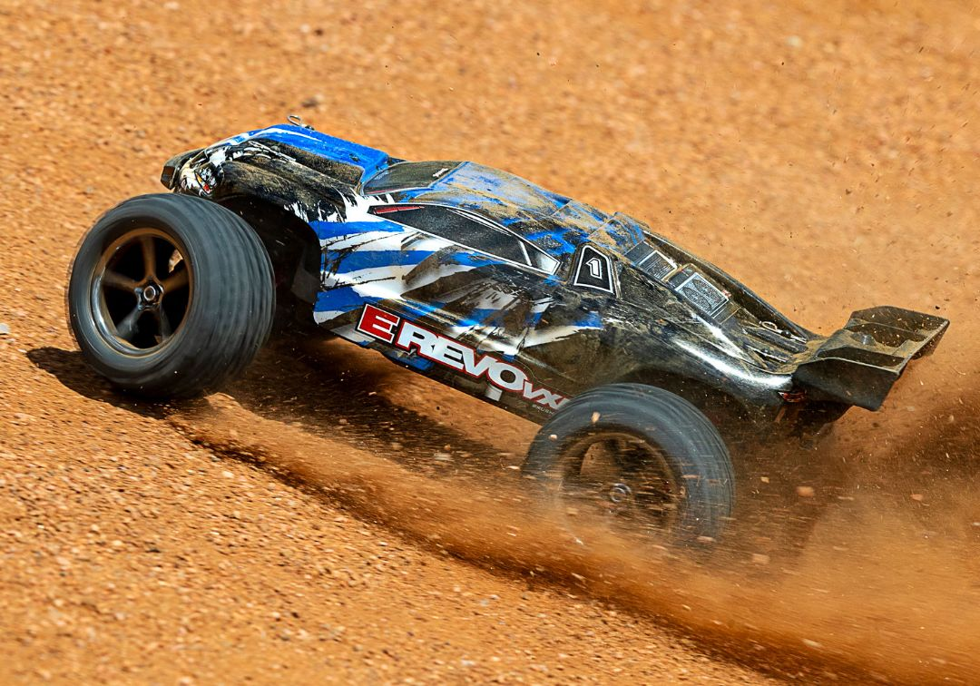 Traxxas E-Revo VXL 1/16 4WD Brushless RTR Truck Blue - Click Image to Close