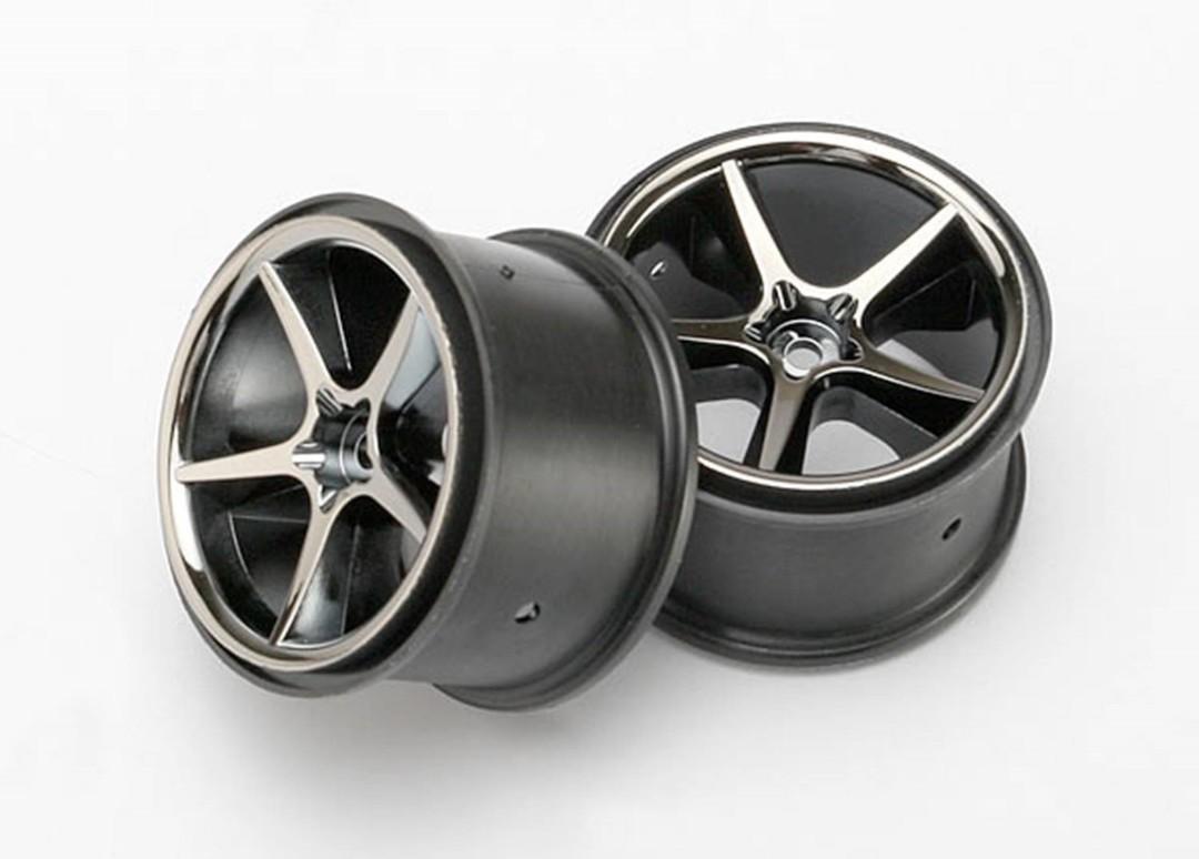 Traxxas Wheels, Gemini (Black Chrome) (2)