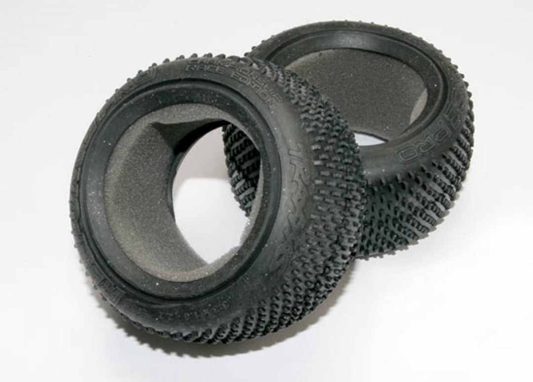 Traxxas Tires, Response Pro 2.2' (Soft-Compound, Narrow Profile, Short Knobby Design)/Foam Inserts (2)