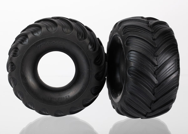 Traxxas Tires, Dual Profile (1.5' Outer And 2.2' Inner) (Left And Right)