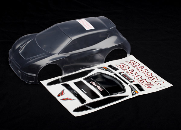Traxxas Body, Rally (clear, requires painting)/ grill and lights decal sheet