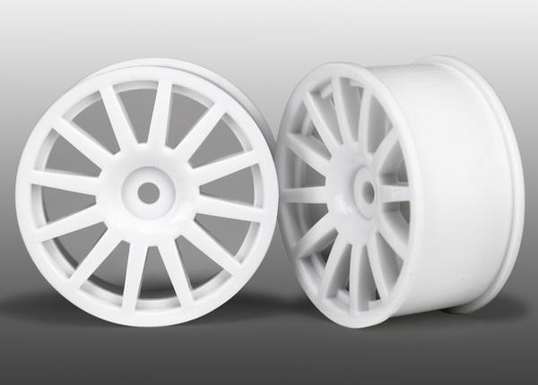 Traxxas LaTrax Tires Wheels, 12-spoke (white) (2)