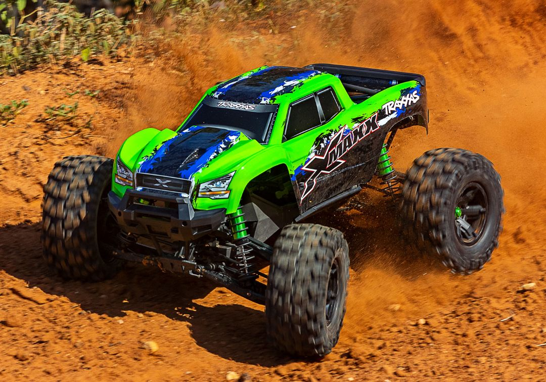Traxxas X-Maxx 4WD Brushless RTR 8S Monster Truck - GreenX - Click Image to Close