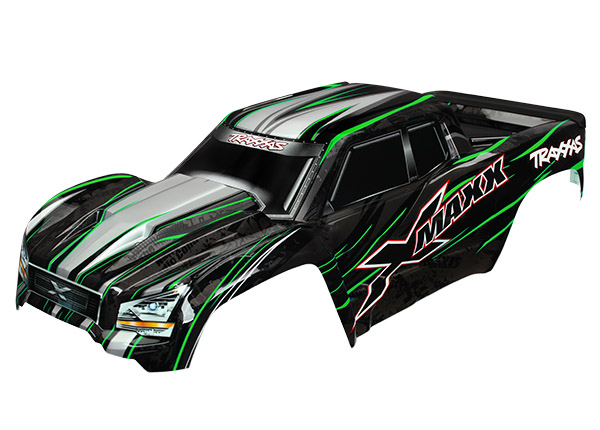 Traxxas Body, X-Maxx, Green (Painted, Decals Applied) (Assembled With Tailgate Protector). Includes TRA7712, TRA7713 and TRA7715
