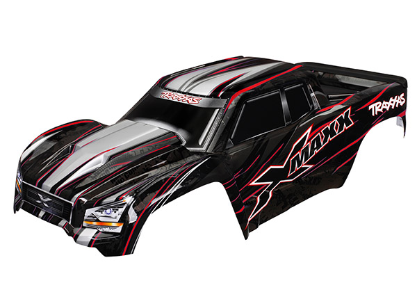 Traxxas Body, X-Maxx, Red (Painted, Decals Applied) (Assembled With Tailgate Protector). Includes TRA7712, TRA7713 and TRA7715