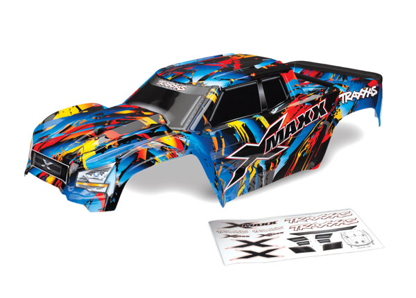 Traxxas Body, X-Maxx, Rock n' Roll (painted, decals applied) (a