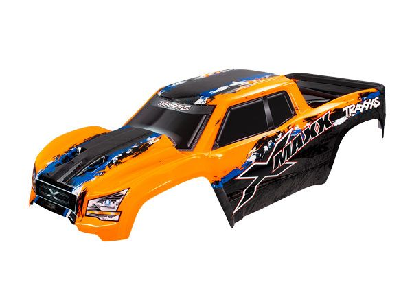 Traxxas Body, X-Maxx, orange (painted, decals applied) (assemble