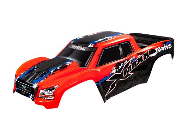 Traxxas Body, X-Maxx, red (painted, decals applied) (assembled