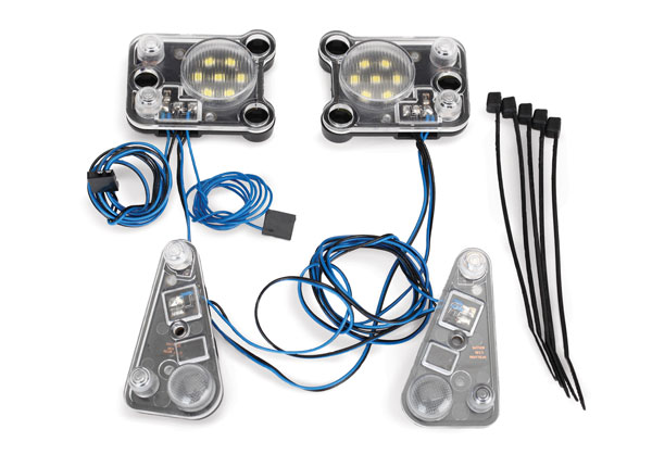 Traxxas LED headlight/tail light kit (fits #8011 body, requires #8028 power supply)