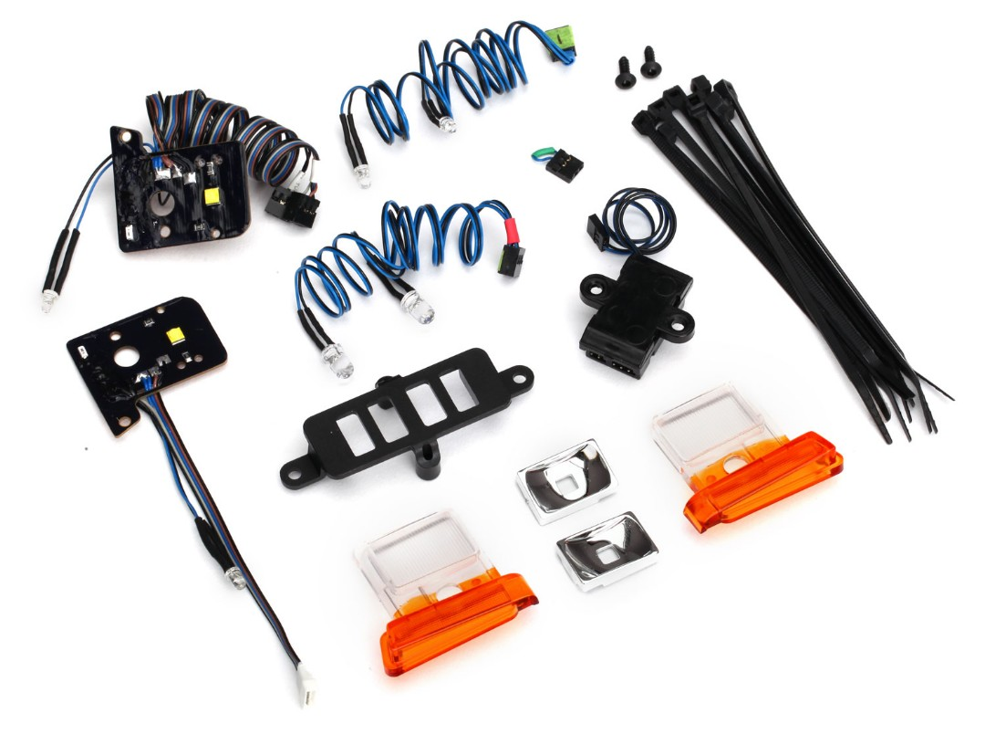 Traxxas Bronco LED light set (contains headlights, tail lights, side marker lights, and distribution block) (fits TRA8010 body, requires TRA8028 power supply)