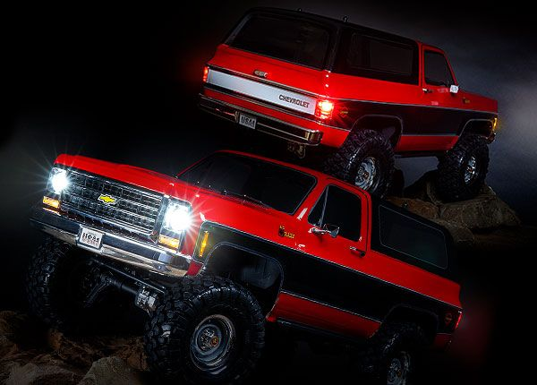 Traxxas Blazer Led light set, complete with power supply (contains headlights, tail lights, side marker lights, distribution block, and power supply) (fits #8130 body)