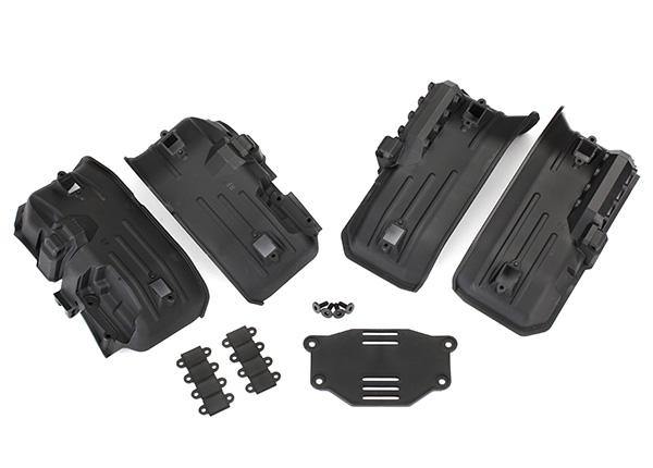 Traxxas Fenders, inner, front & rear (2 each)/ rock light covers (8)/ battery plate/ 3x8 flathead screws (4)