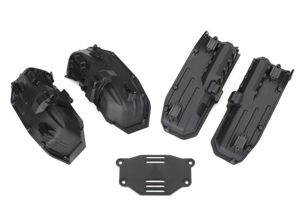 Traxxas Fenders, inner (narrow), front & rear (2 each)/ rock lig