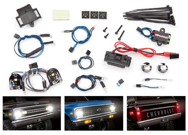 Traxxas LED light set, complete with power supply (contains head